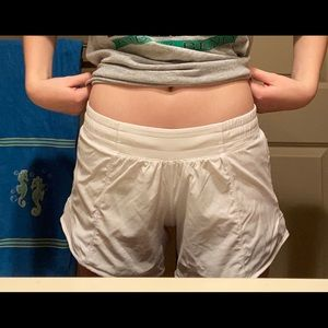 lululemon athletica Shorts - White Lululemon Hotty Hot Shorts